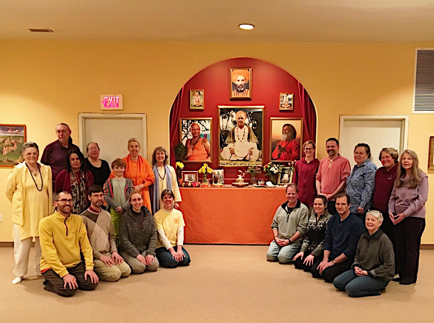 Farewell satsang for Swami Uma Puri